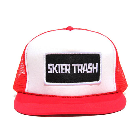 Classic Patch Trucker Hat - Red/White