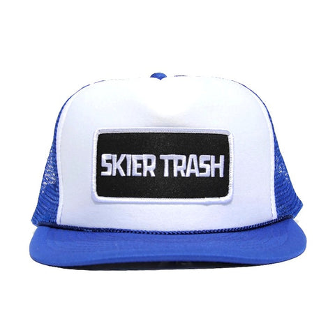 Classic Patch Trucker Hat - Blue/White