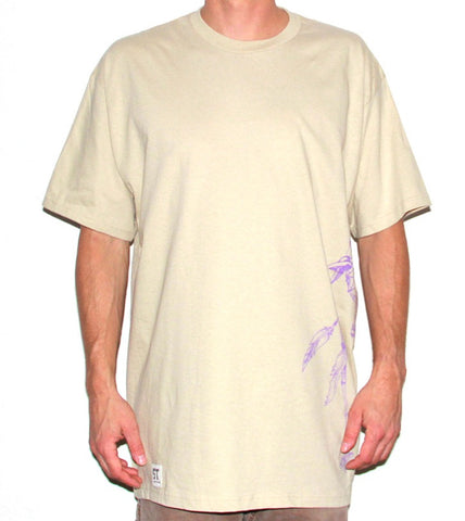 DC Large Tee - Putty/Glow Purple
