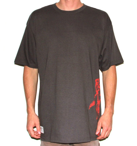 DC Large Tee - Charcoal/Red