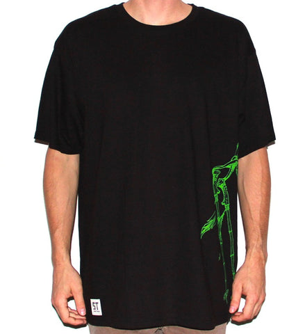 DC Large Tee - Black/Glow Green