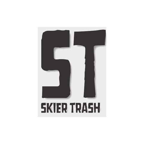 ST Logo Diecut Sticker - Black