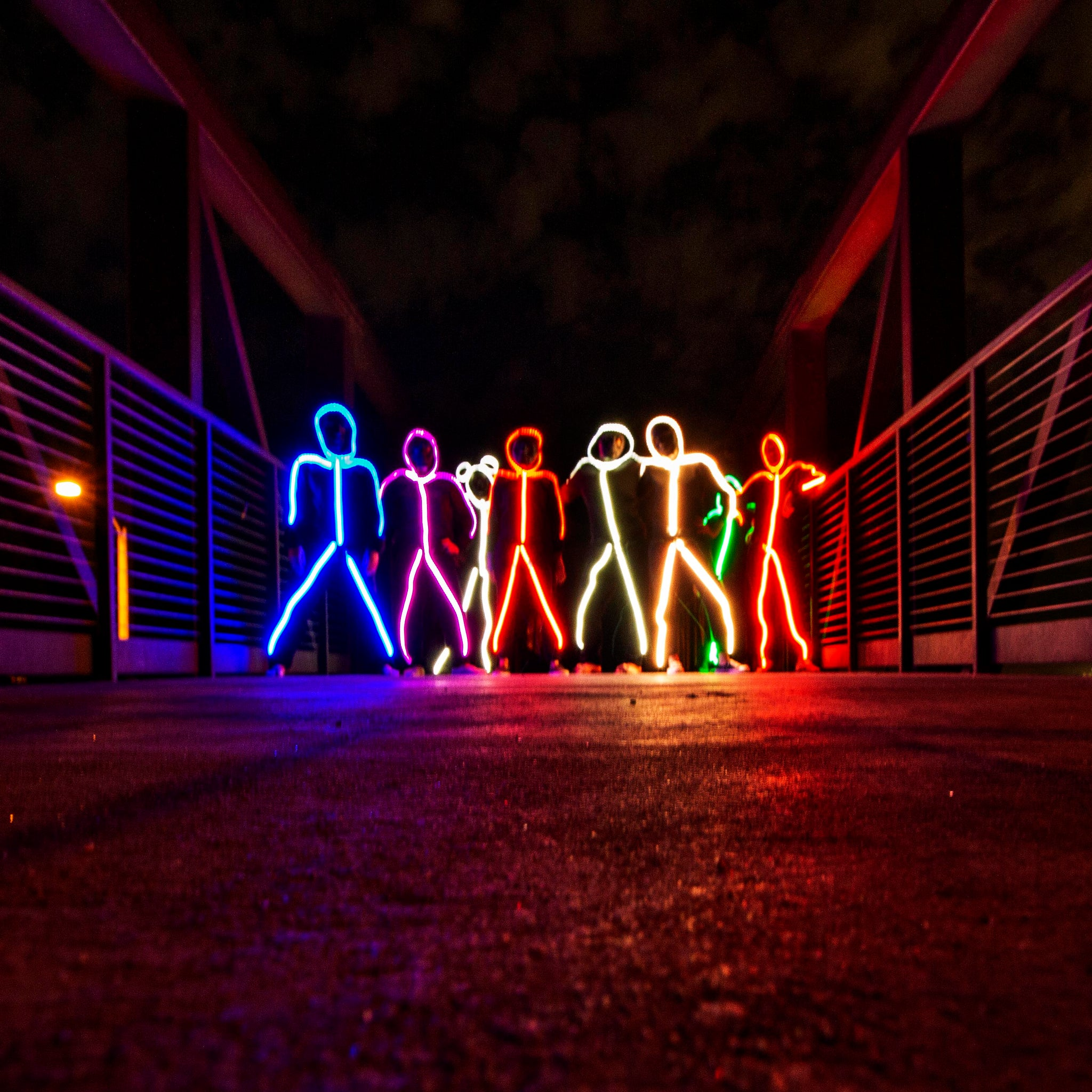 glowy zoey - the world's brightest led stick figure suit