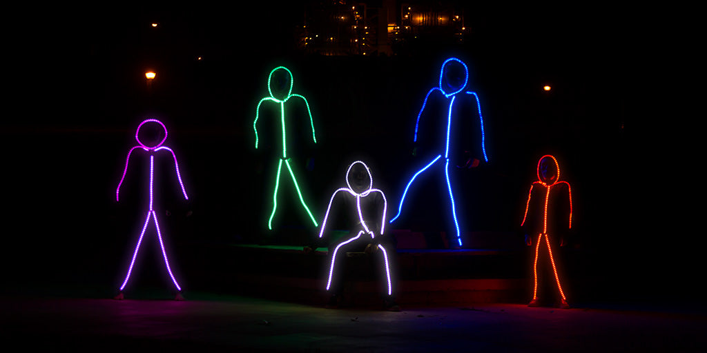 Glowy Zoey The World S Brightest Led Stick Figure Suit