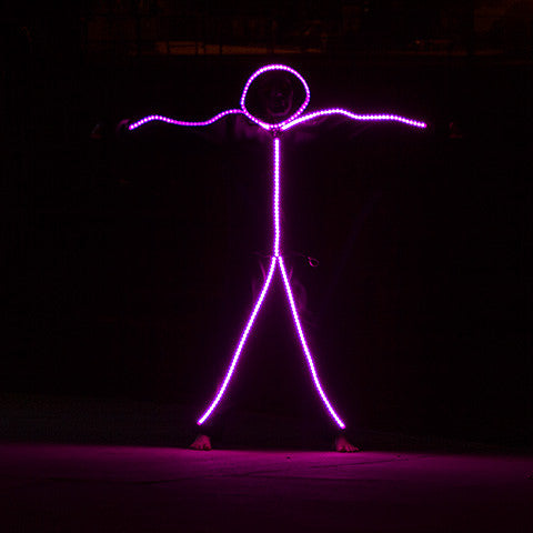 Led stickman light kit costume by glowy zoey rgb color changing led stick figure kit solutioingenieria Gallery