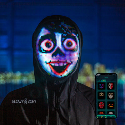 Face Transforming LED Mask - App Controlled - Rechargeable