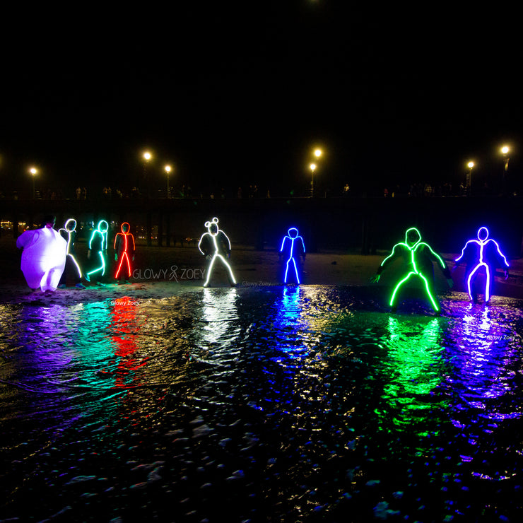 RGB Color Changeable light up LED Stick Figure Kit