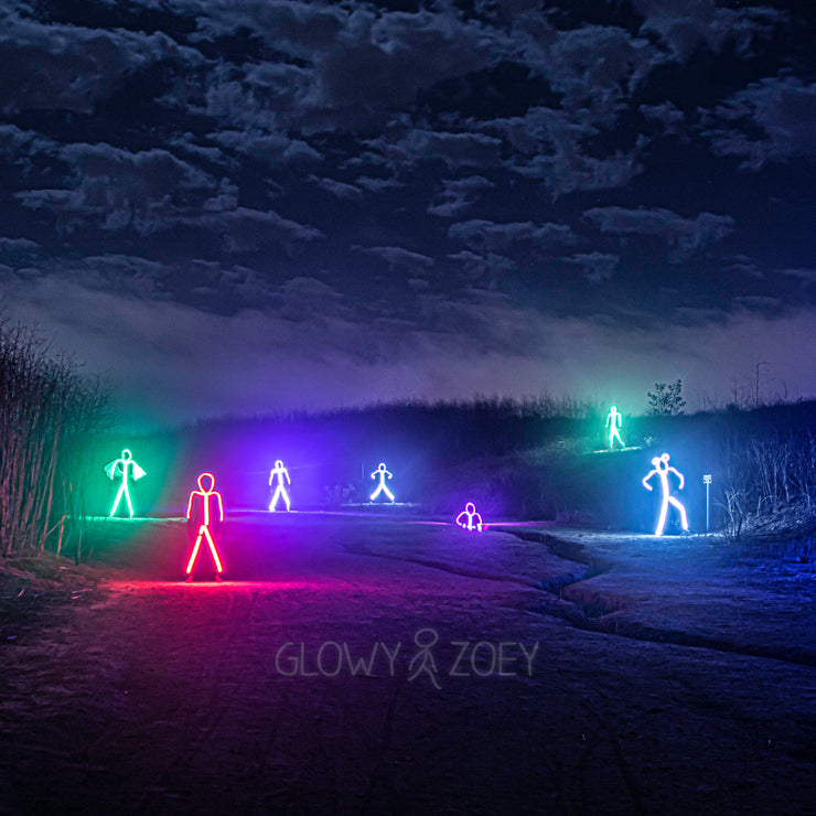 Creepy LED stick figures