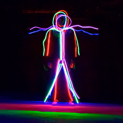 RGB Color Changing LED stickman stick figure