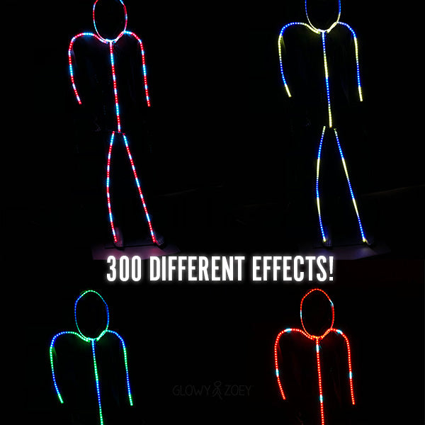 Luminoid Digital Smart Light-up LED Stick Figure Kit w/ Free Rechargeable Battery