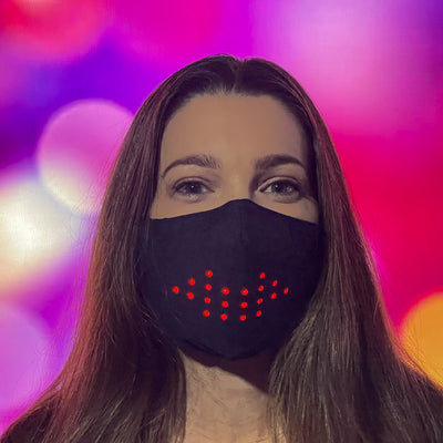 Sound Reactive LED Face Mask - Mouth moves as you talk!