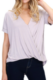 Plus Cross Over Crepe Top