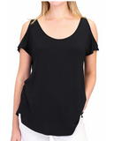 Sylvia Cold Shoulder T