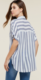 Maisy Blue and White Stripes