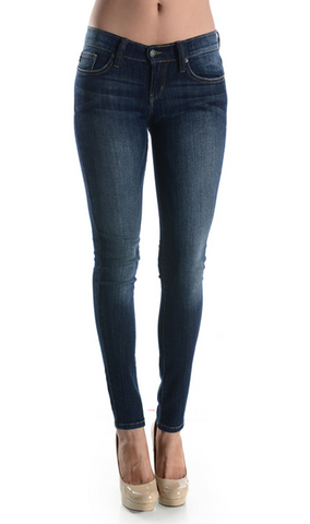 Dark Blue Stone Washed Skinny's