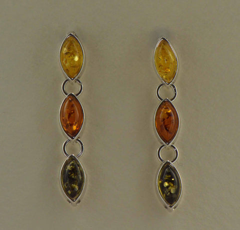 seeds tricolor earrings