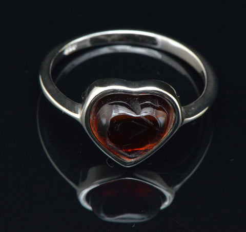 cognac heart ring