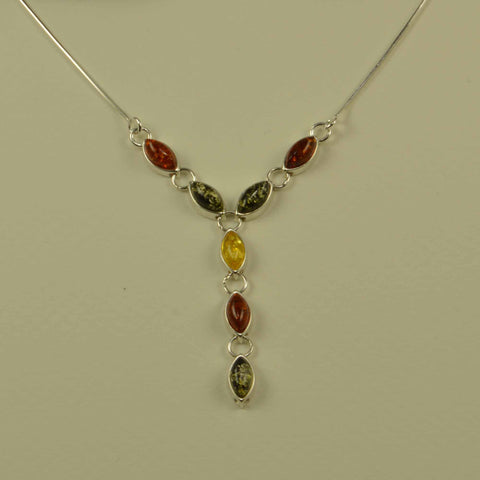 seeds tricolor necklace
