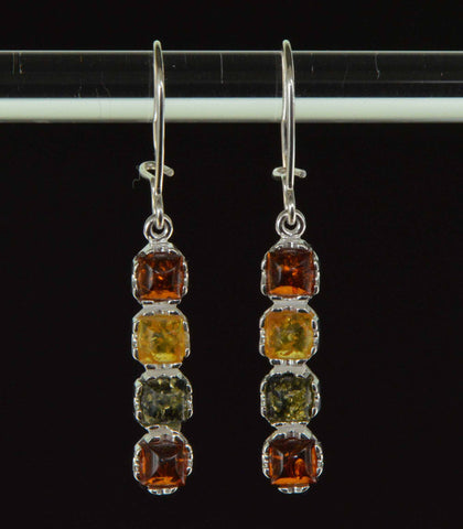 squares tricolor amber