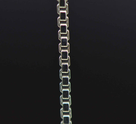 sterling silver box jewelry chain 1.5 mm. fine detail