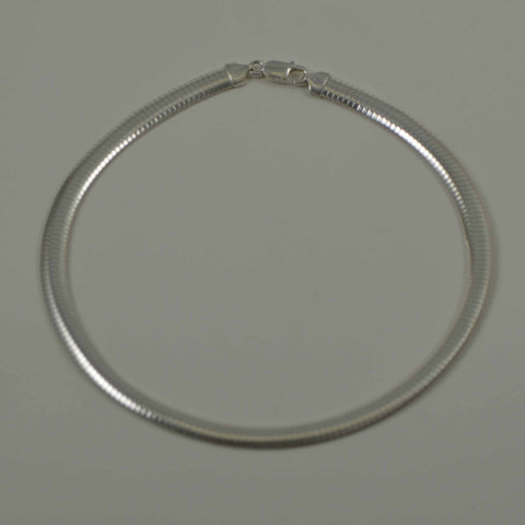 sterling silver omega 8 mm. jewelry chain necklace