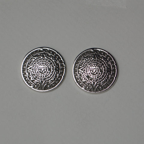 aztec calendar earrings