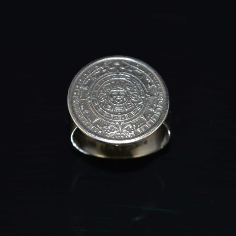 aztec calendar small ring