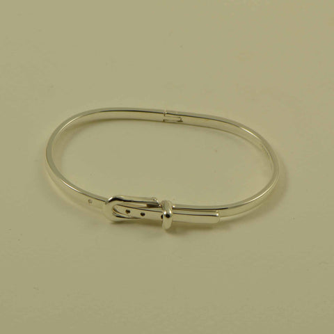 belt buckle hinge bracelet all silver