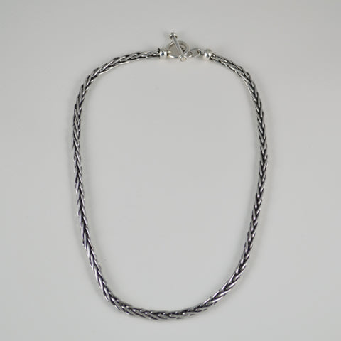 oxidized cable necklace