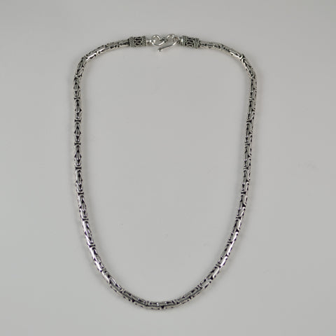 byzantine round necklace 4 mm.