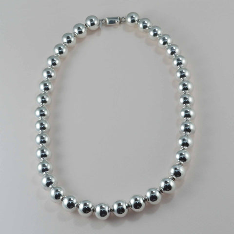 14 mm. bead necklace