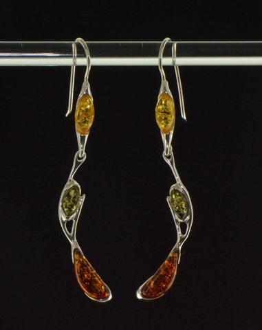 branches tricolor earrings