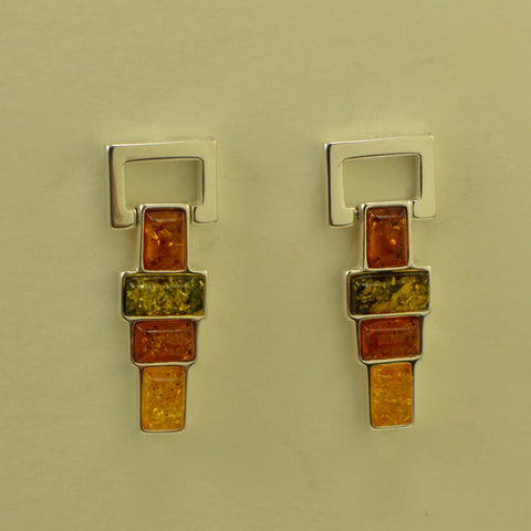 rectangles tricolor earrings