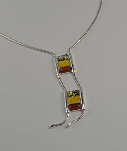 ladders tricolor necklace