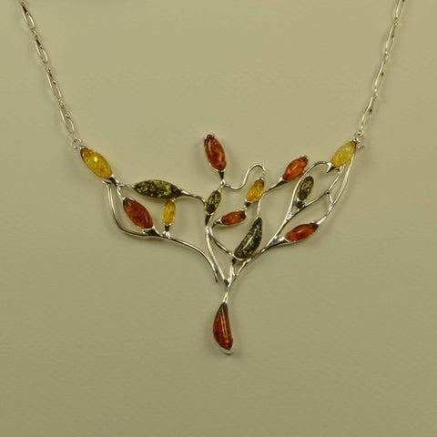 branches tricolor necklace