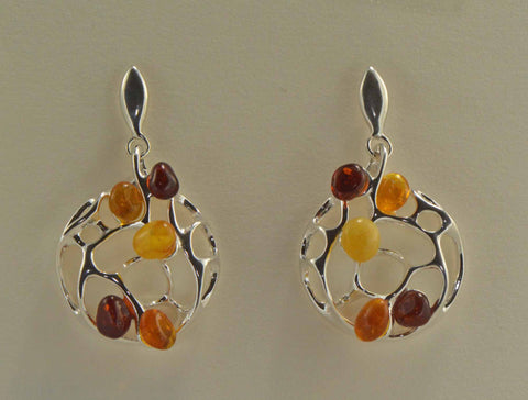 circle branches earrings