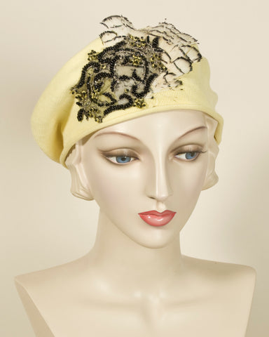 03904SBC Small Beret, lemon