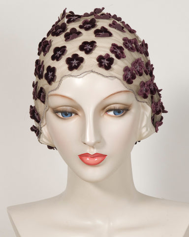 0407HB Headband, raisin