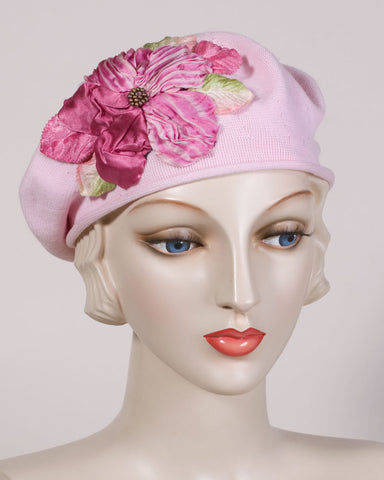 0504SBC Small Beret, cotton, light pink