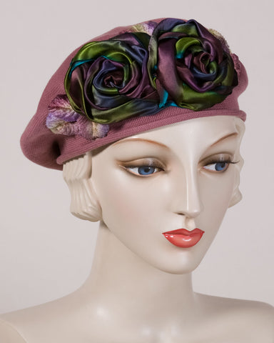 0515SBC Small Beret, dusty rose