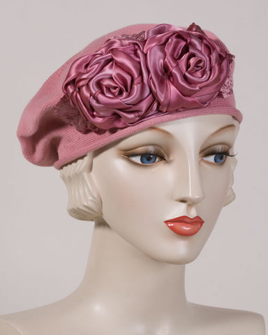 0515SBC Small Beret, rose