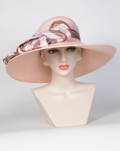 0719GCPA Grace, Panama straw, blush with copper