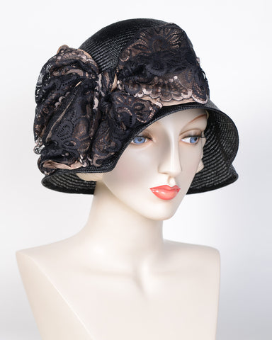 0724ADSI Andrea, sisal, black with black & mink