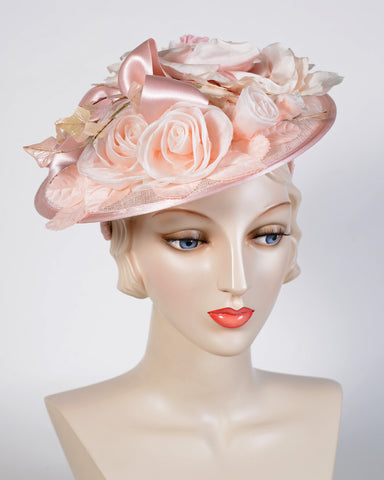 0760WYSY Whimsy, sinamay over Paglina, pink
