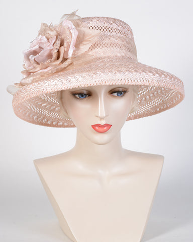 0763AYLS Audrey, lacy sisal, pale pink