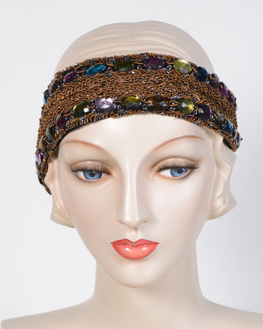 0793HB Headband, jewel tones