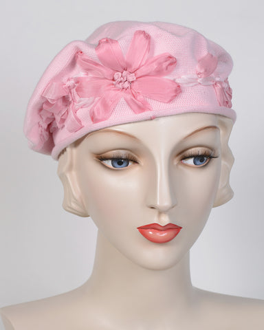 0795SBC Small Beret, cotton, pink