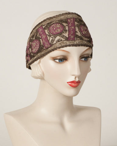 1115HB Headband, plum/gold