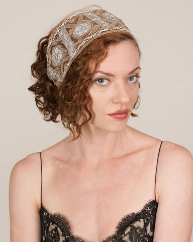 1115HB Headband, taupe/silver