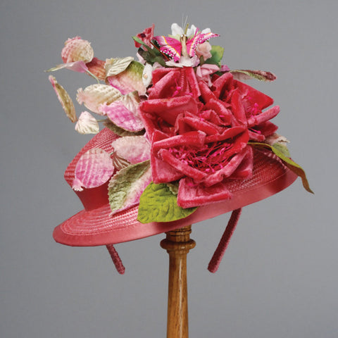 1257DHPS DOLL HAT, PARISISAL, HOT PINK
